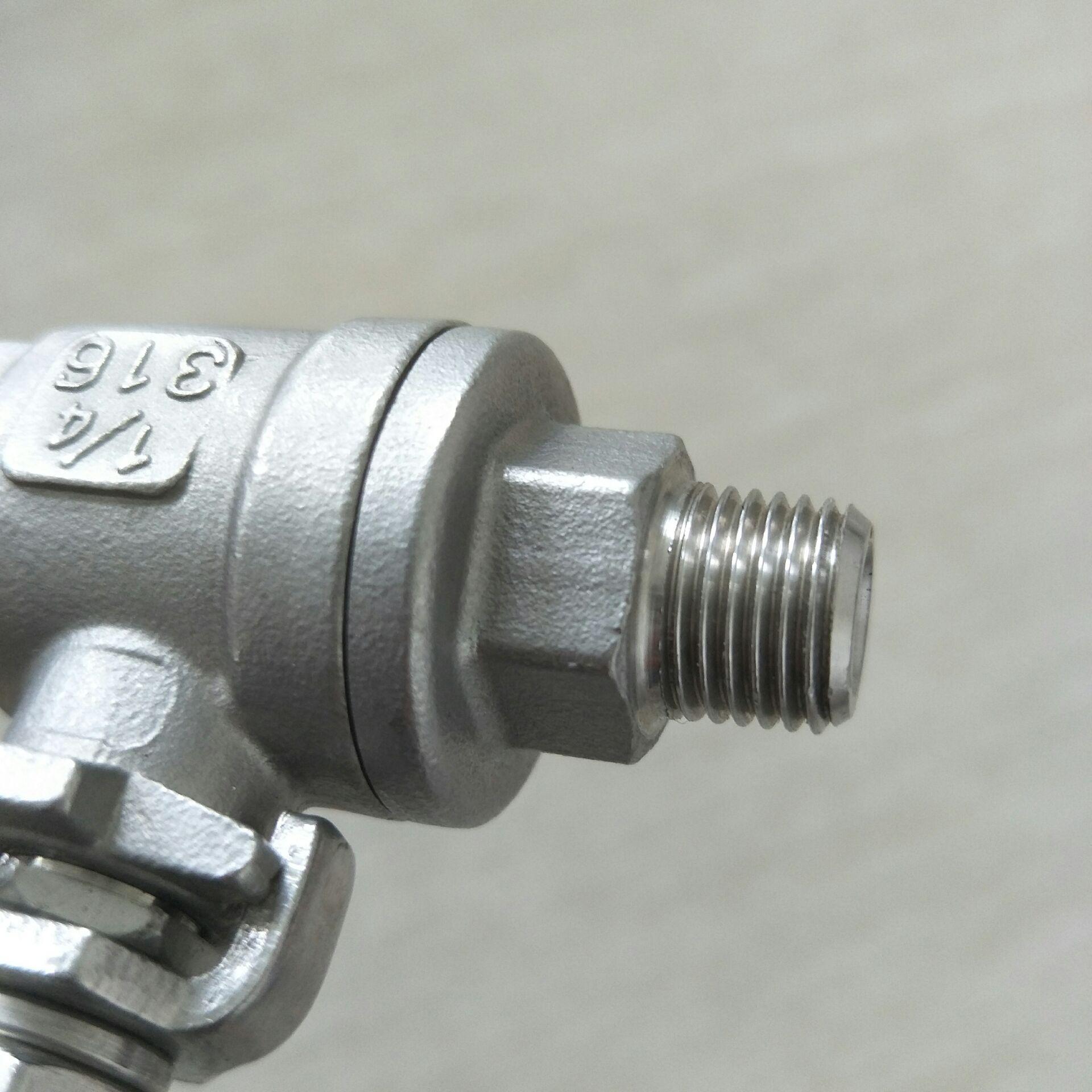 不锈钢内外牙二片式球阀 DN15  FM螺纹2PC810952142