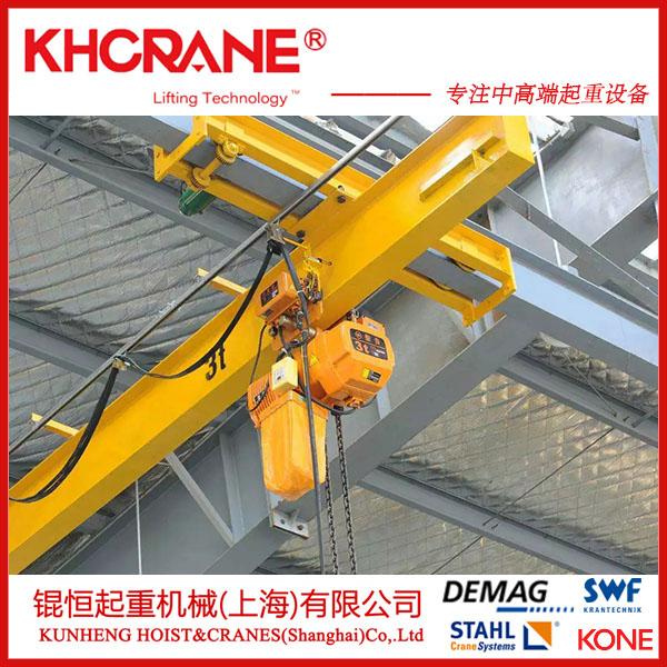上海定制LX-2.5T悬挂起重机、锟恒悬挂行吊葫芦856494445