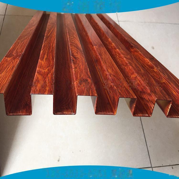 广告门头装饰凹凸型铝板定制  仿木纹长城铝板101547095