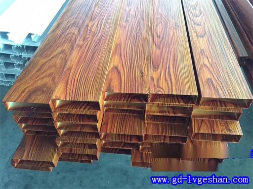 4D木纹铝方通 木纹铝方管生产商 手感木纹铝方通