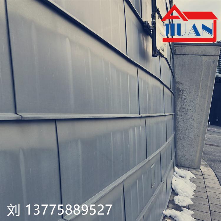 江西钛锌板 直立锁边系统 钛锌合金平锁扣板861259535