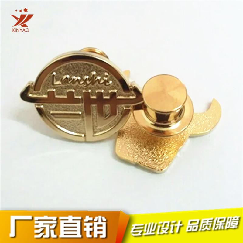 定做徽章压铜喷砂镀金徽章平顶卡帽胸章可按需求定制790712455