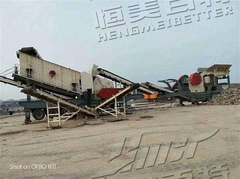 石灰石移动式破碎机 建筑垃圾移动破碎站 石料厂嗑石机分期付款774476382
