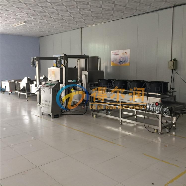 青岛DZ炸五花肉生产线 电加热五花肉油炸机设备759736632