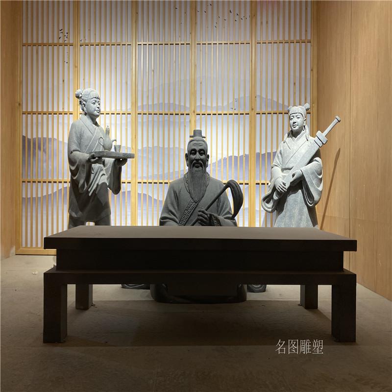 广场人物组合雕塑 玻璃钢情景人物雕塑139109515