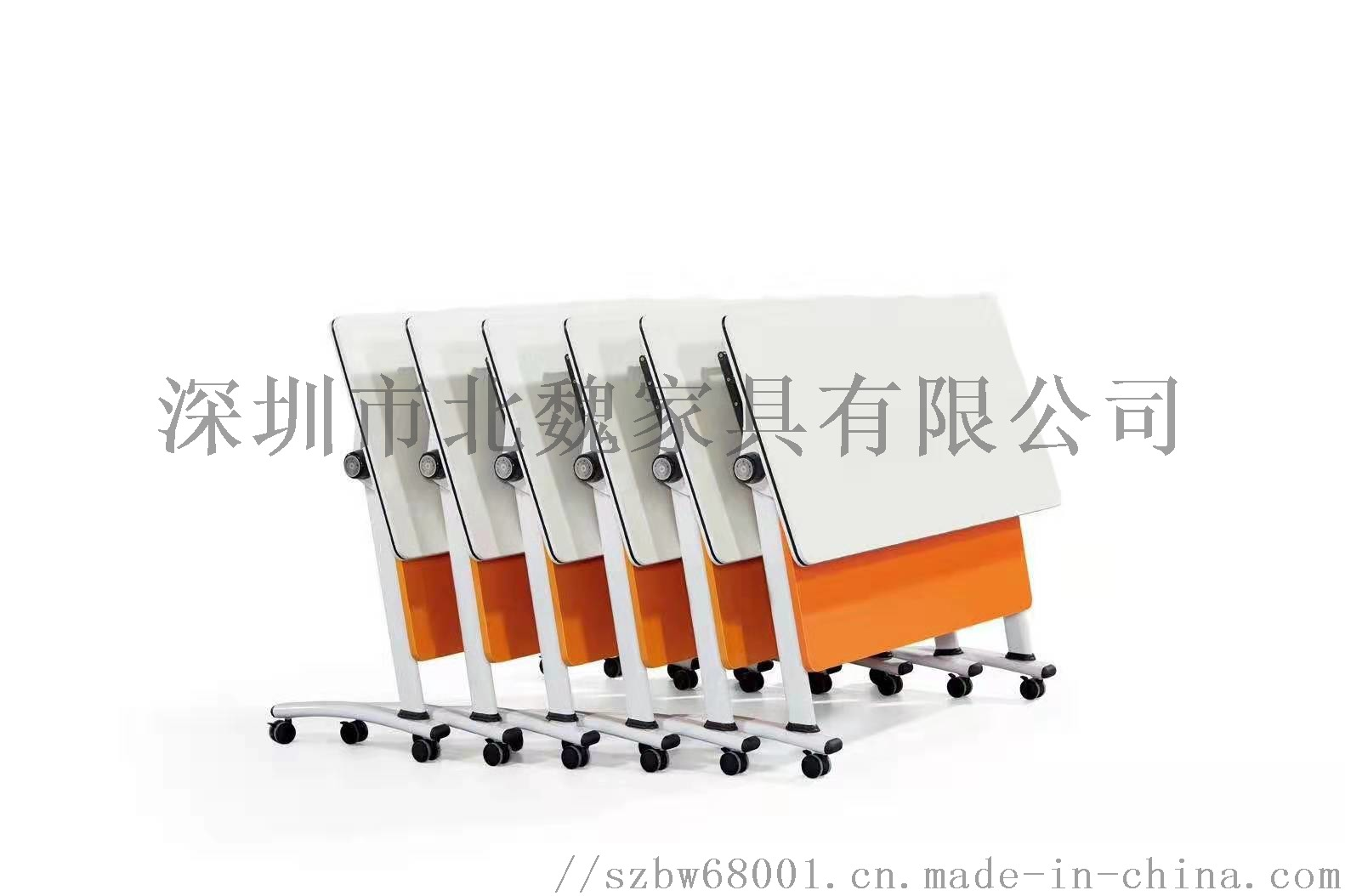 广东PXZ学校梯形拼接六边形创意带轮培训桌椅126941425