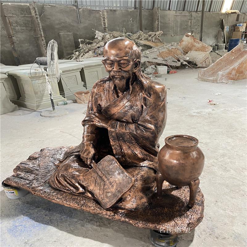 佛山高明玻璃钢雕塑定做 仿铜人物玻璃钢雕塑135233865