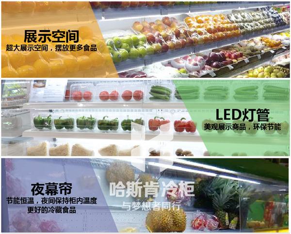 风冷蔬菜水果冷藏风幕柜厂家直销140926985