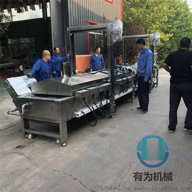 炸鸡排油炸机器 浸入式鸡排裹浆机 鸡排油炸生产线815900122