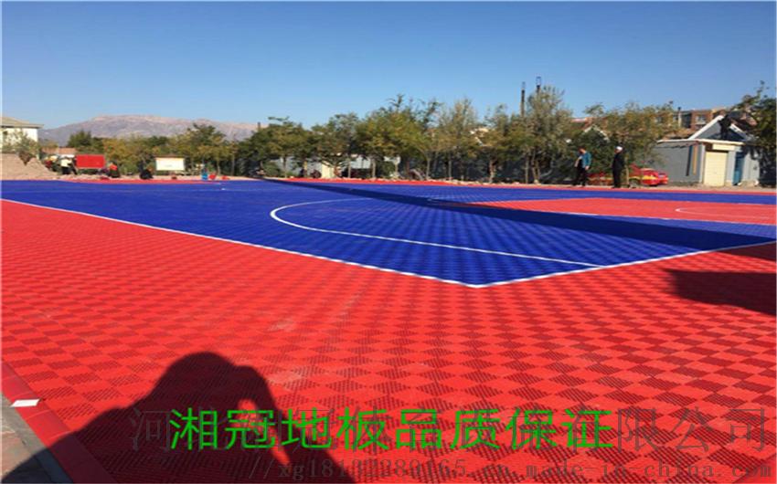 安裝學校籃球場懸浮拼裝地板施工拼裝地板廠家河北湘冠84446515