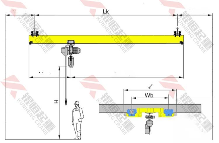 LX型1.6T欧式悬挂起重机电动悬挂单梁行车天车66396305
