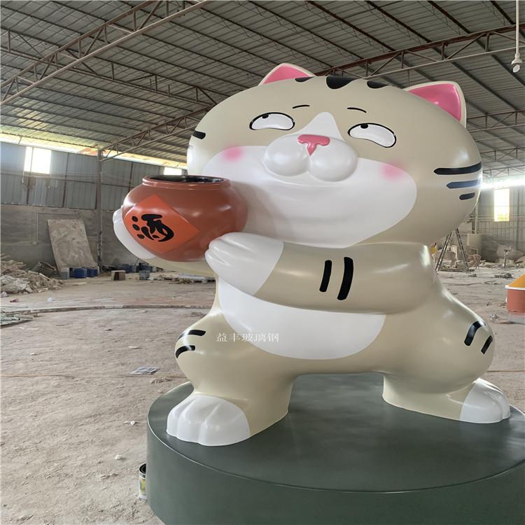 佛山玻璃钢卡通招财猫雕塑 商业广场吉祥物雕塑摆件147498935