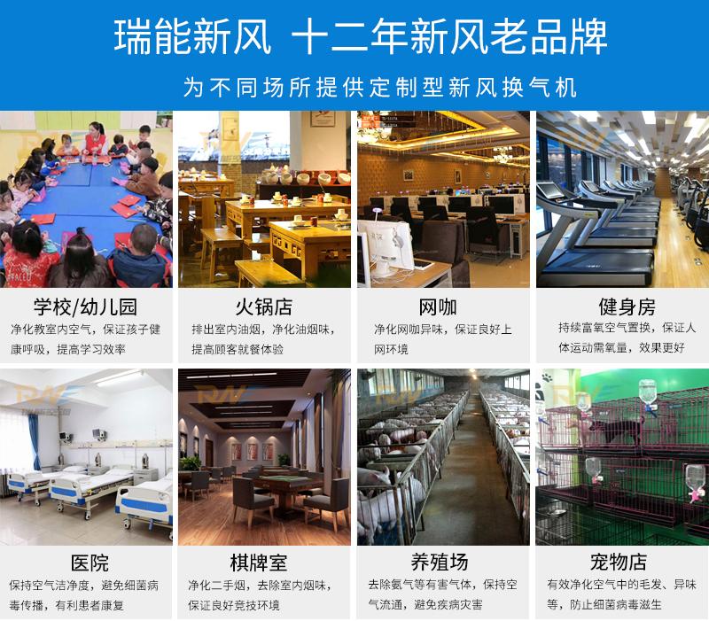 瑞能网咖火锅店商用新风系统 新风换气机 全热交换器106322032