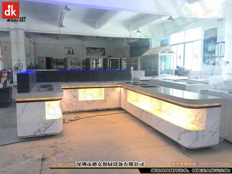 杭州省人民医院体检中心自助餐台 单位用餐取餐台设计制作2.jpg