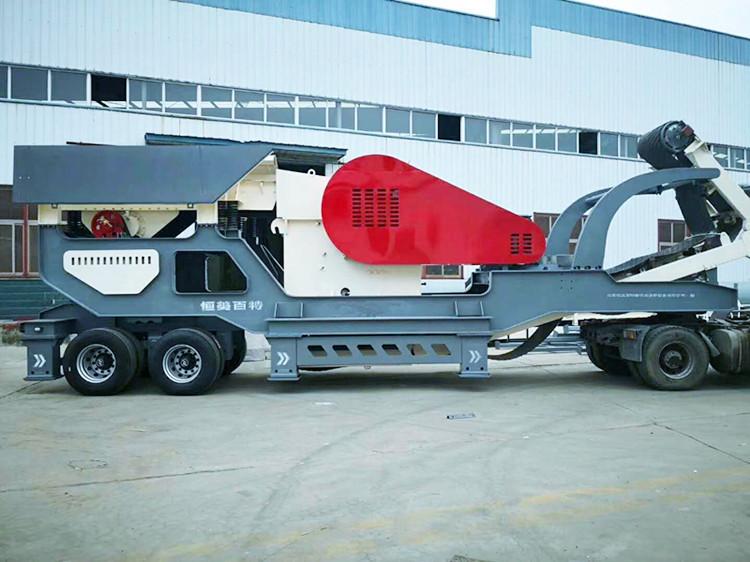 移动破碎车 可以移动破碎的建筑垃圾粉碎站 石料生产可移动破碎机109256202