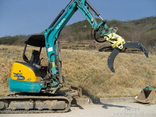 挖掘机抓木器 360度抓木机 旋转抓木 东奕机械厂57638435