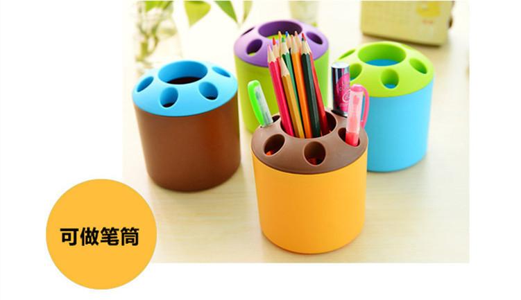多功能塑料笔筒牙刷架一元小礼品76914032