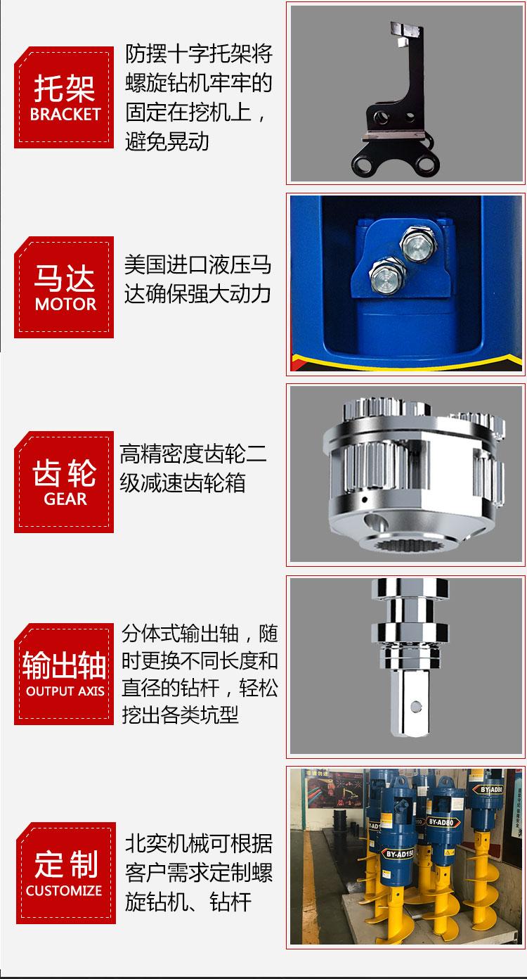 光伏桩钻机快速引孔打桩、光伏钻孔机136257145