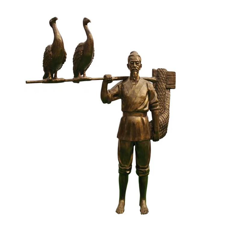 玻璃钢农耕雕塑 户外景观仿铜人物雕塑146526505