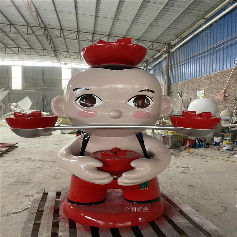 网红卡通公仔雕塑 广场玻璃钢造型制作153361125