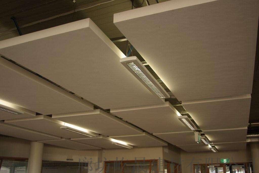防火吊頂 跌級玻纖吸音板明架式龍骨 安裝效果立體92087912
