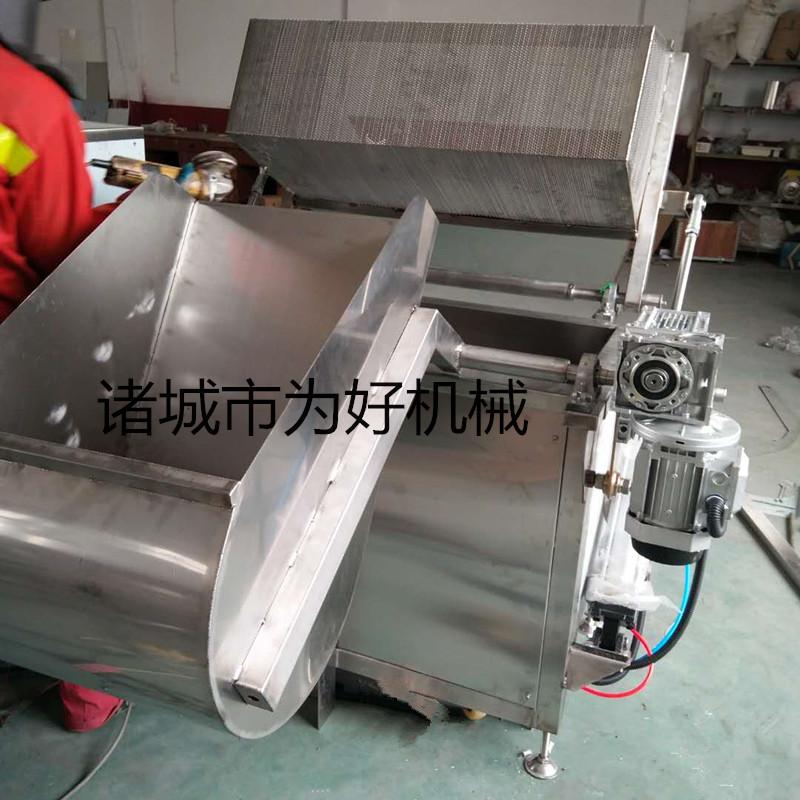 2020豆泡气缸油炸锅 带搅拌进出料油炸设备840942572