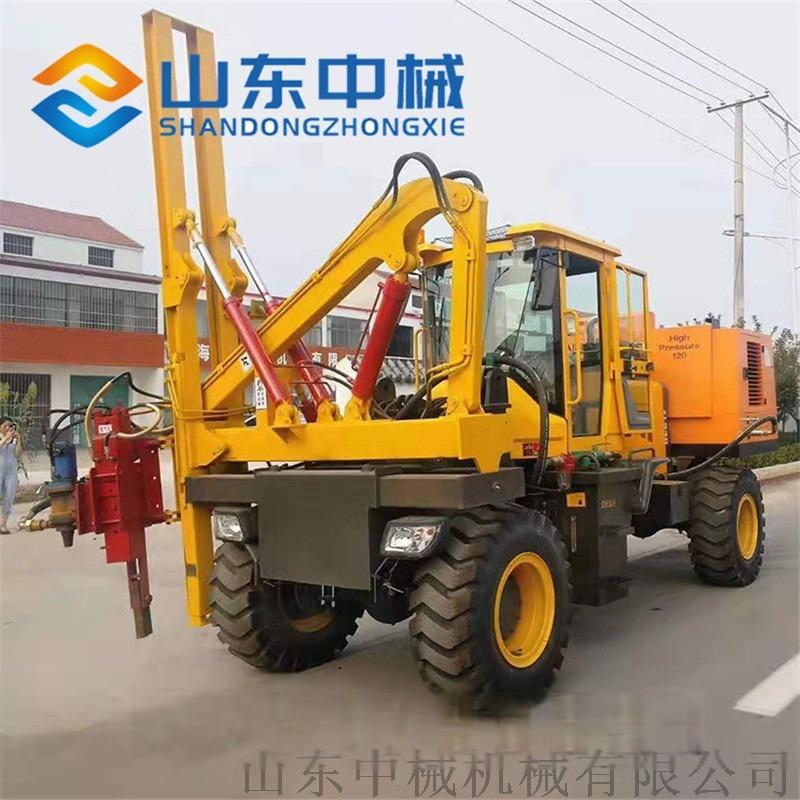 厂家直销高速公路护栏打桩机 液压公路护栏打桩机837889752