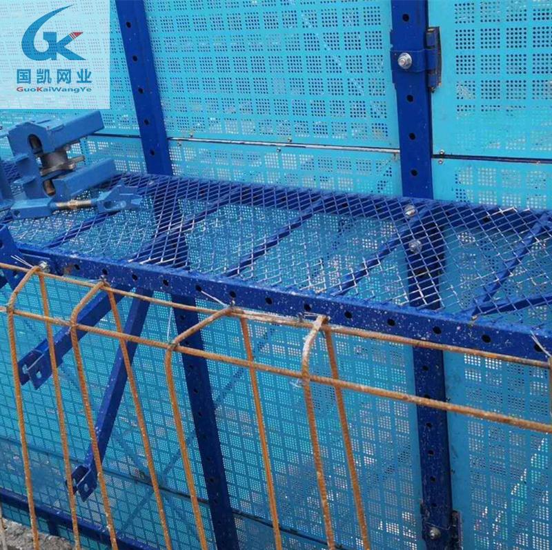 悬挑架钢制安全网 外架钢网片 整体提升架价格842319702