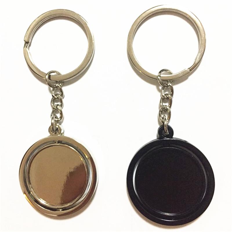 厂家直销钥匙扣金属圆形高档可旋转钥匙挂件定制802049335
