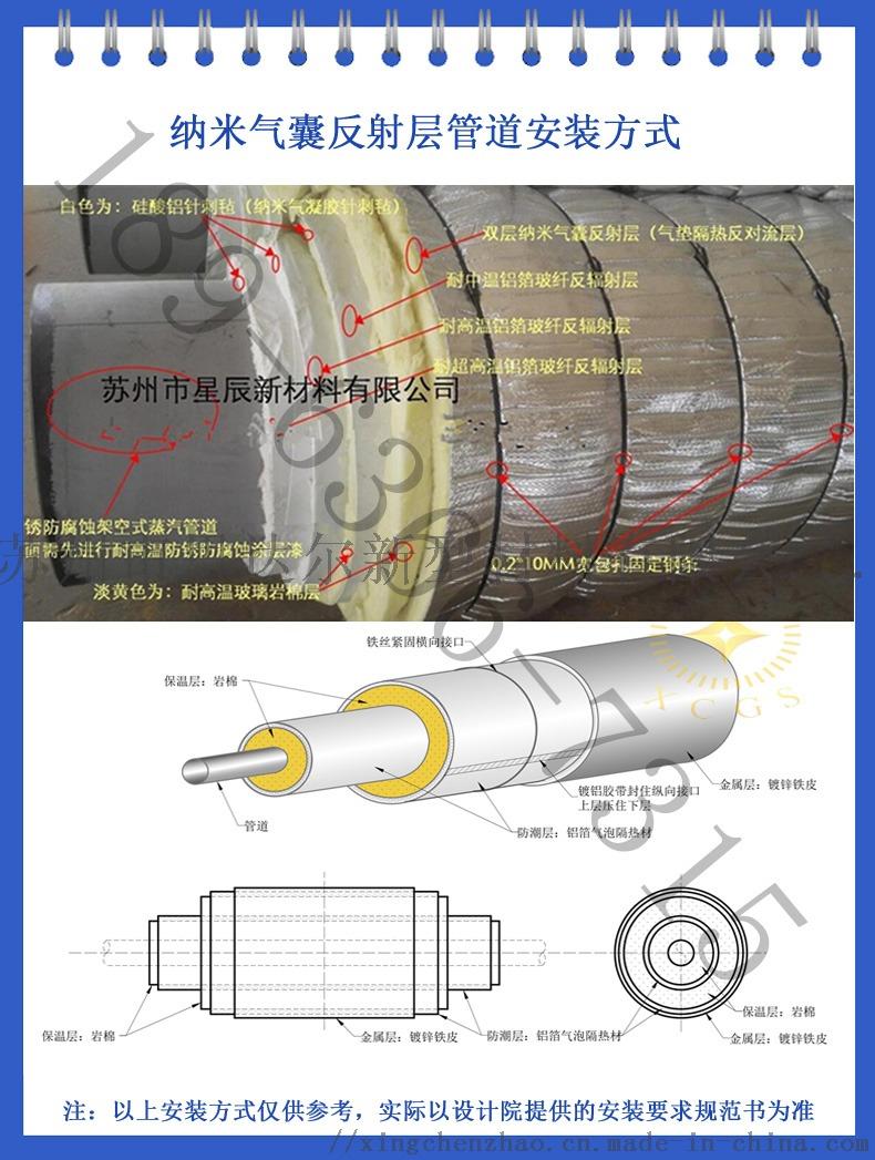 供应管道保温纯铝气泡膜隔热材 低能耗热网抗对流层117336835