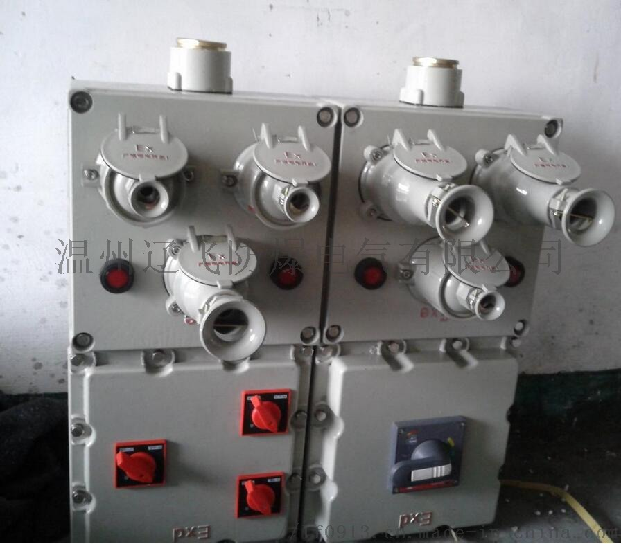 明装6回路带总开关防爆配电箱764454012