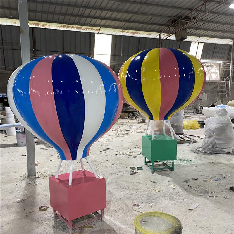 海南玻璃钢气球雕塑 楼盘广场仿真热气球雕塑道具954462565