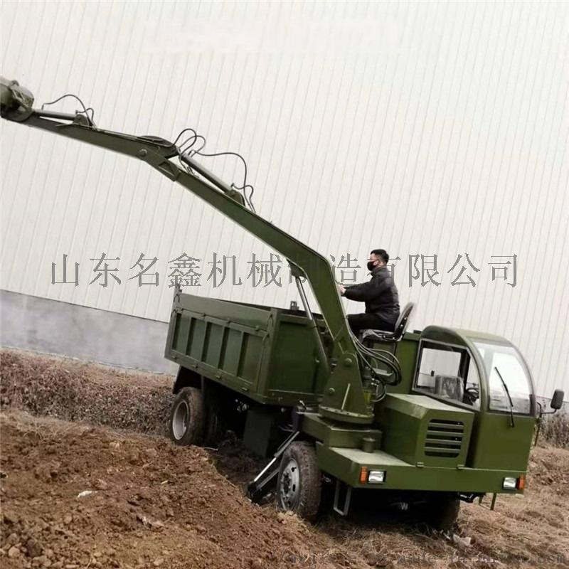 轮式多功能吊挖一体机 园林绿化挖吊一体机110200032
