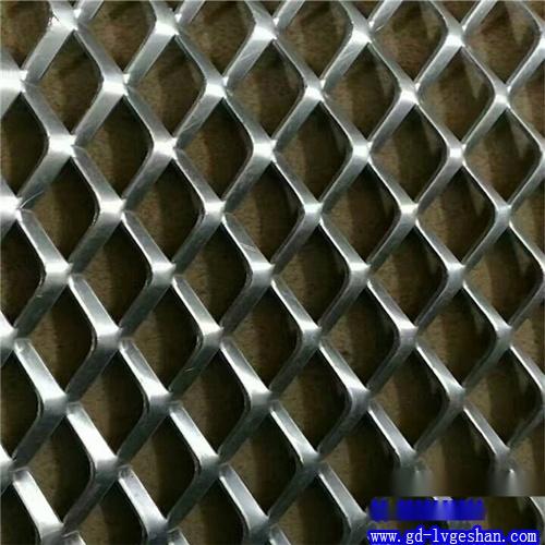 菱形铝网格吊顶 铝板网规格 铝网板孔形