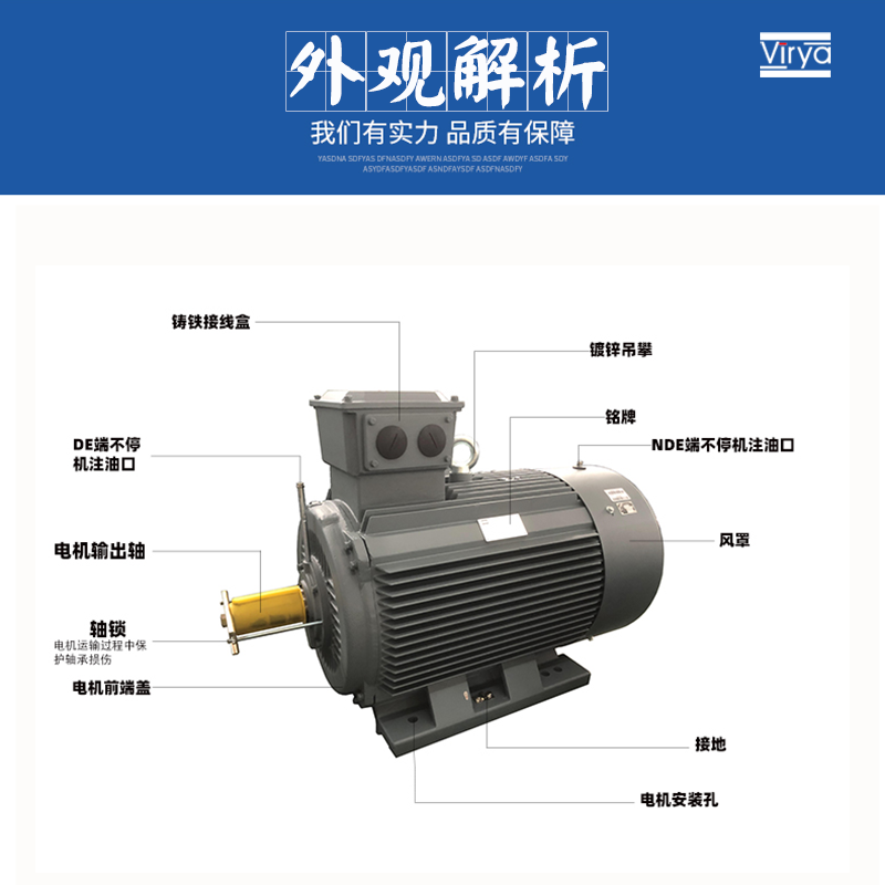 電動機YE3臥式100L-2-3kW馬達380V896211845
