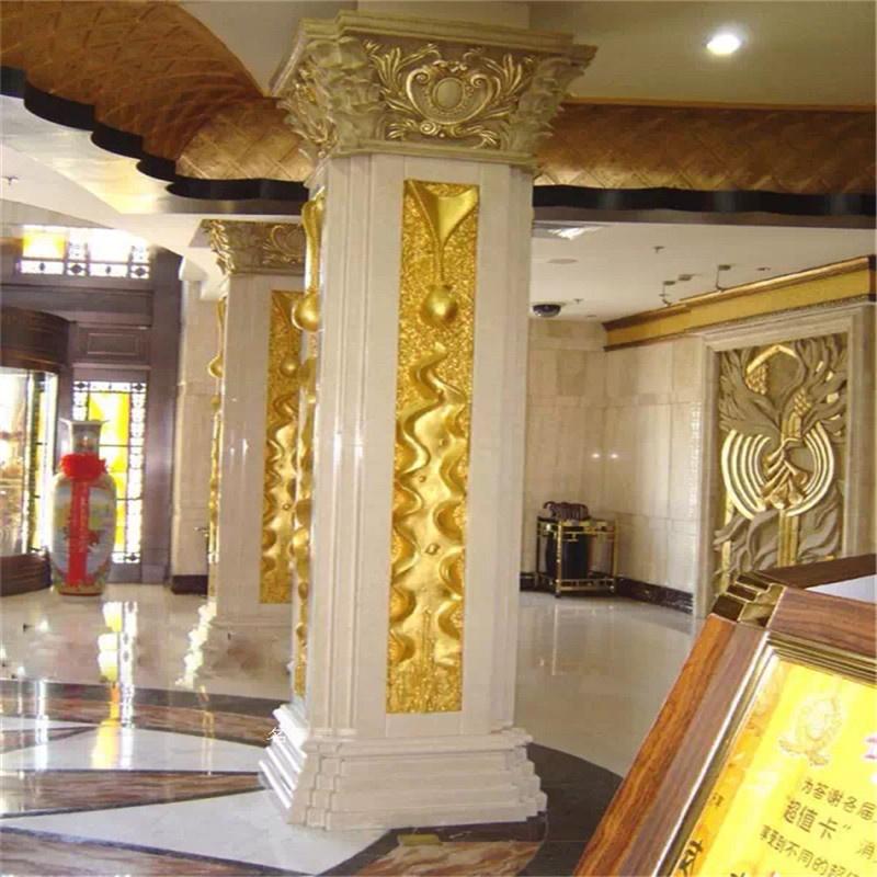 酒店前台玻璃钢罗马柱造型装饰湖南玻璃钢造型雕塑893108855