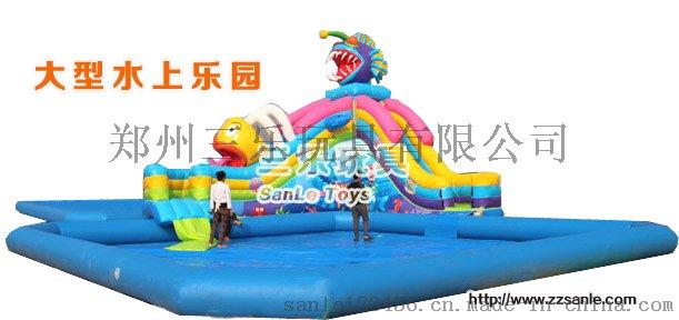 儿童游泳池支架水池SL-0015冰雪世界充气水滑梯41992132