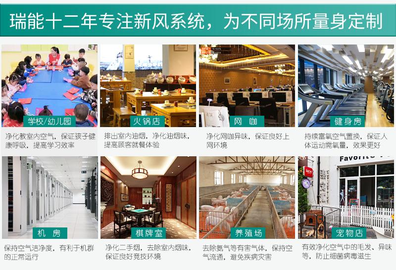瑞能网咖火锅店商用新风系统 新风换气机 全热交换器106321462