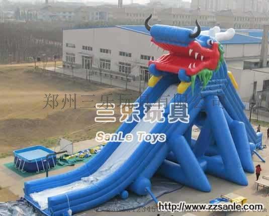 儿童游泳池支架水池SL-0015冰雪世界充气水滑梯41992122
