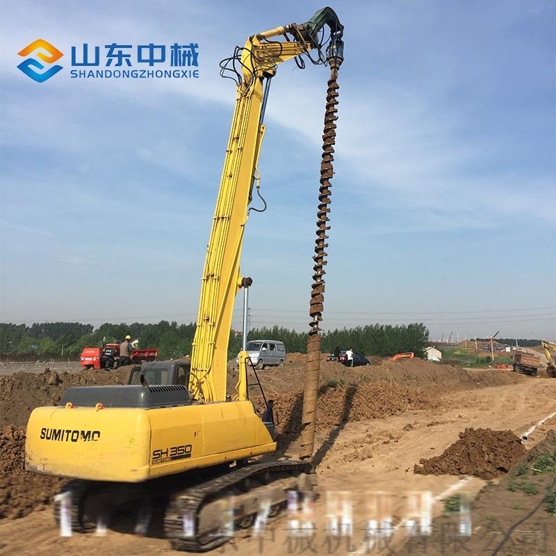挖掘機改裝液壓螺旋鑽大孔輪挖改螺旋鑽機113408302