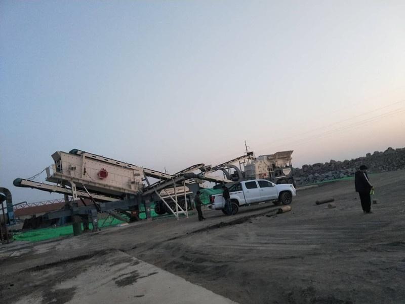 时产100吨鹅卵石破碎机 移动式破碎机生产线114200322