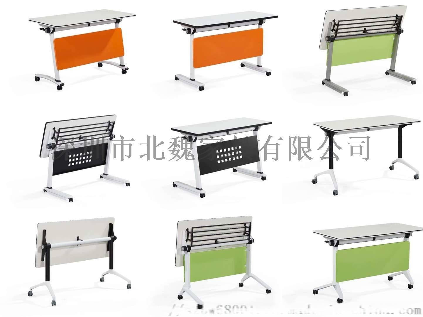 厂家直销可翻动可移动学生桌-多功能折叠培训桌135866235