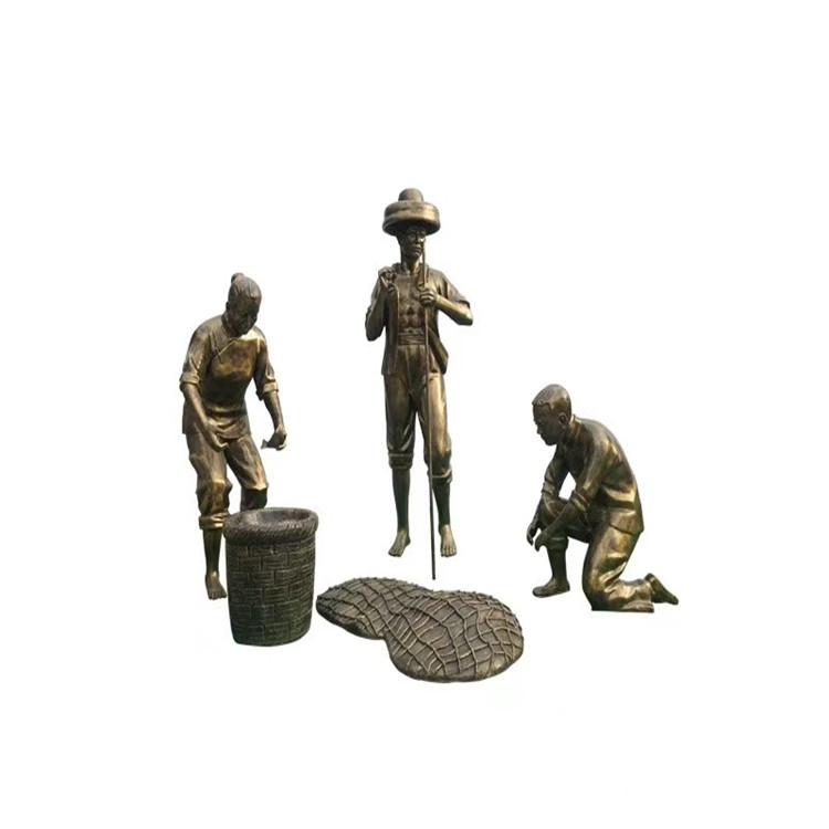 玻璃钢农耕雕塑 户外景观仿铜人物雕塑146526545