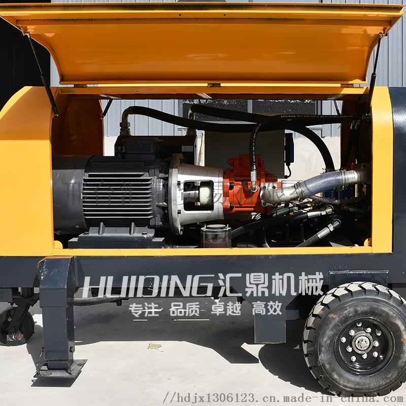 二次结构浇筑泵20型细石砂浆输送泵上料机斜式863727412