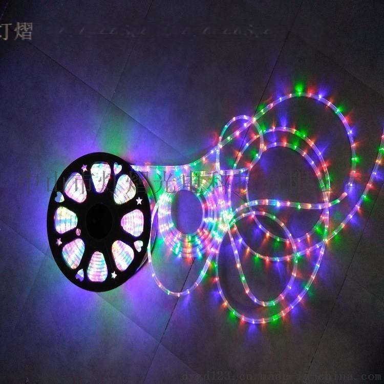廠家直銷LED燈帶 戶外防水圓二線 彩虹管770066815