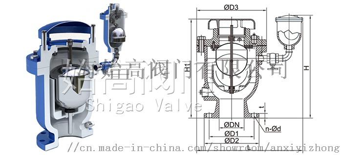 复合式高速排气阀尺寸图