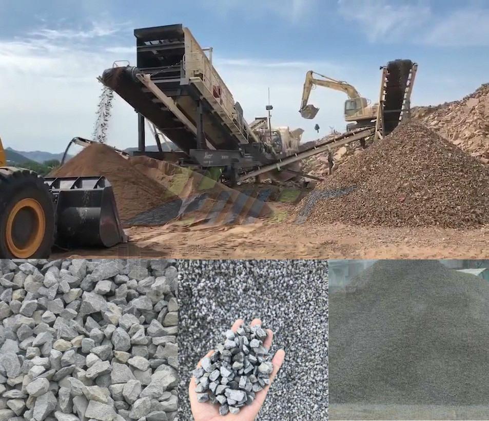 陕西建筑垃圾移动式破碎站 石料碎石机厂家69060822