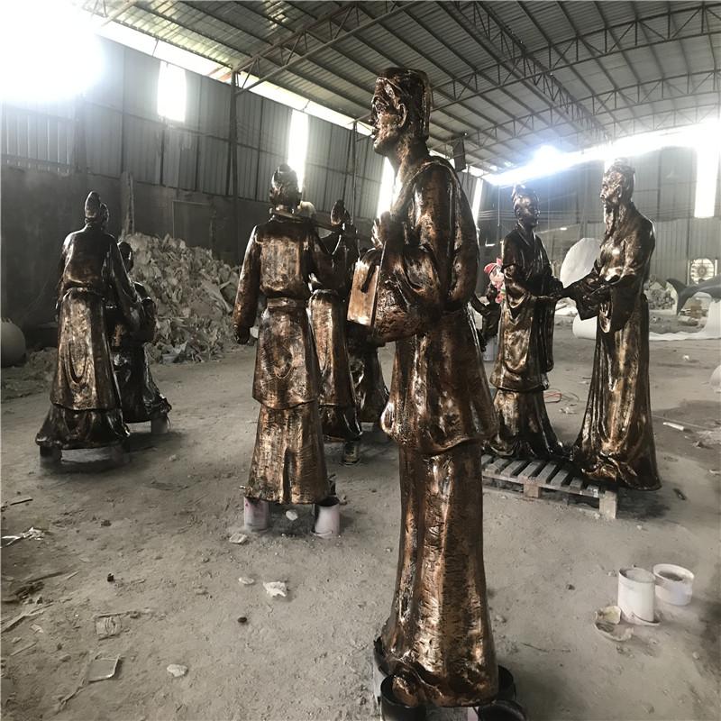 佛山玻璃钢人群雕塑 购物广场玻璃钢仿铜人物雕塑898785255