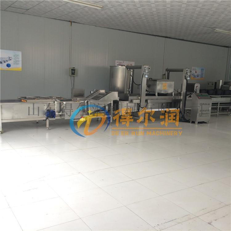 促销款藕合油炸生产线 DR40油炸机 藕条油炸设备764095092