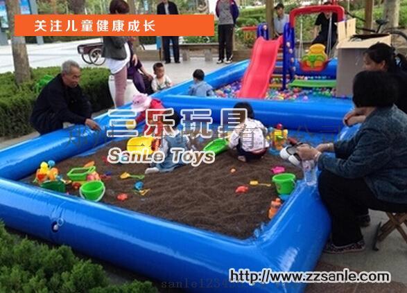 蓝色组合沙滩球池子